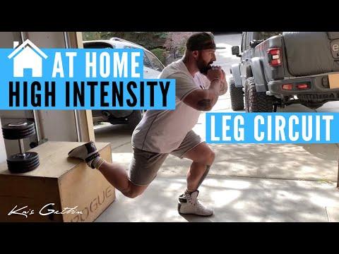 At Home High Intensity Leg Circuit