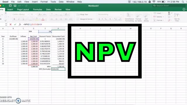 how to calculate net present value  npv  in excel