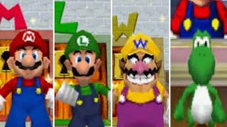 Super Mario 64 DS - All Characters