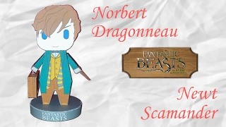 Papercraft : Norbert dragonneau - Newt Scamander ! Les animaux fantastiques