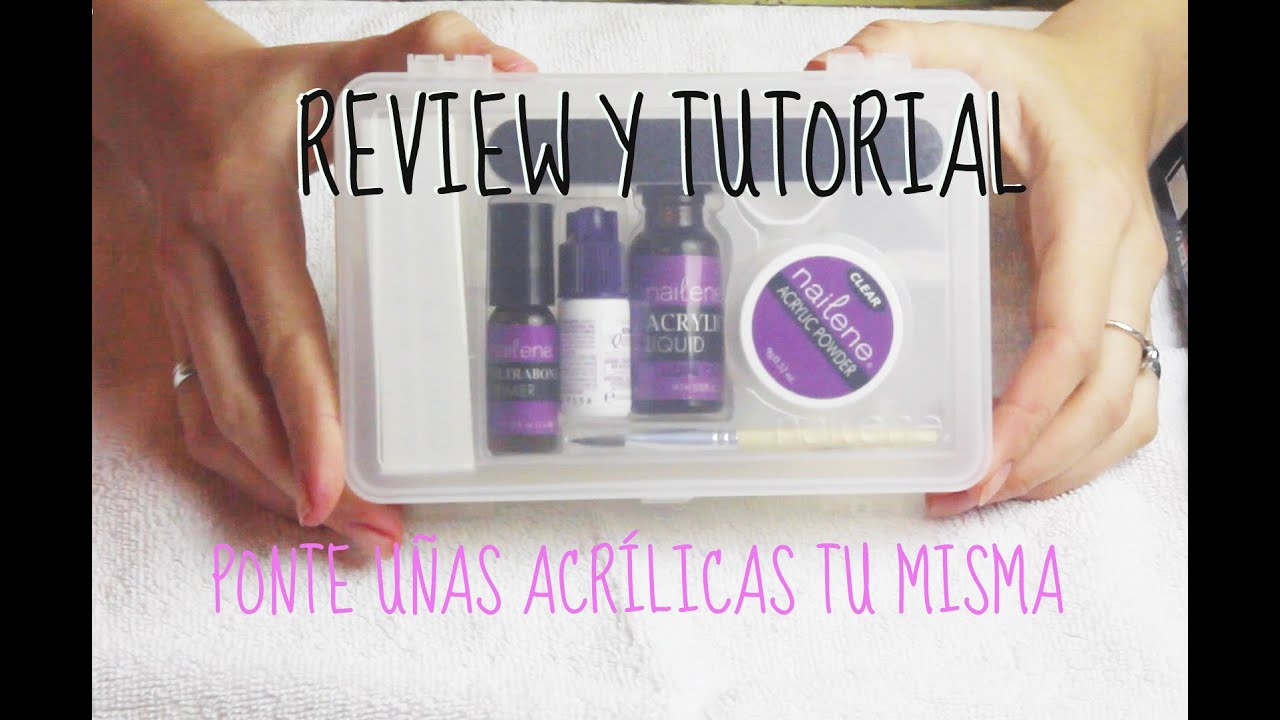 REVIEW KIT NAILENE DELUXE SALON ACRYLIC Y TUTORIAL