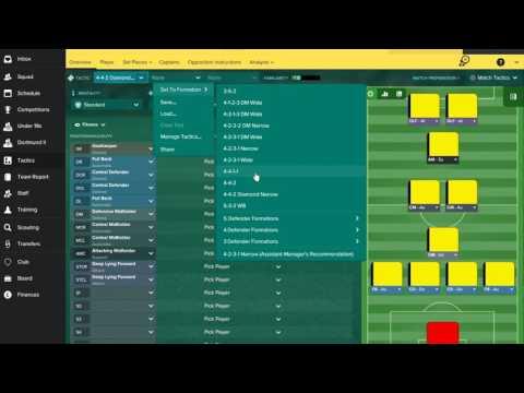 FM17 - Borussia Dortmund Tactics & Team Guide!