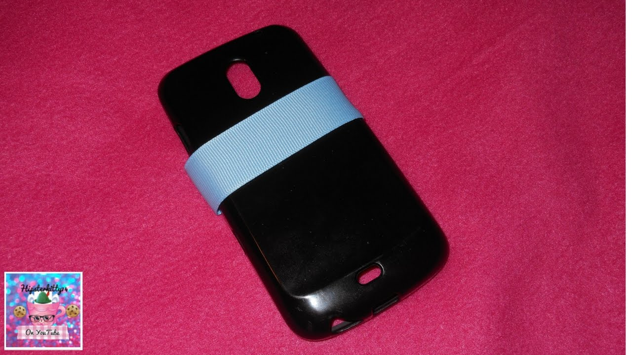 How To Decorate Your Phone Case With Ribbon Youtube