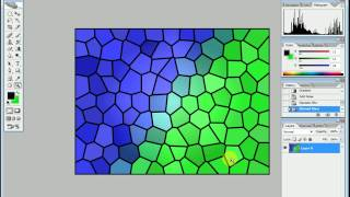 Photoshop Tutorial   How to create an texture by Stained Glass