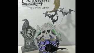 Mixed Media Halloween Birdhouse: Ravenswood Manor