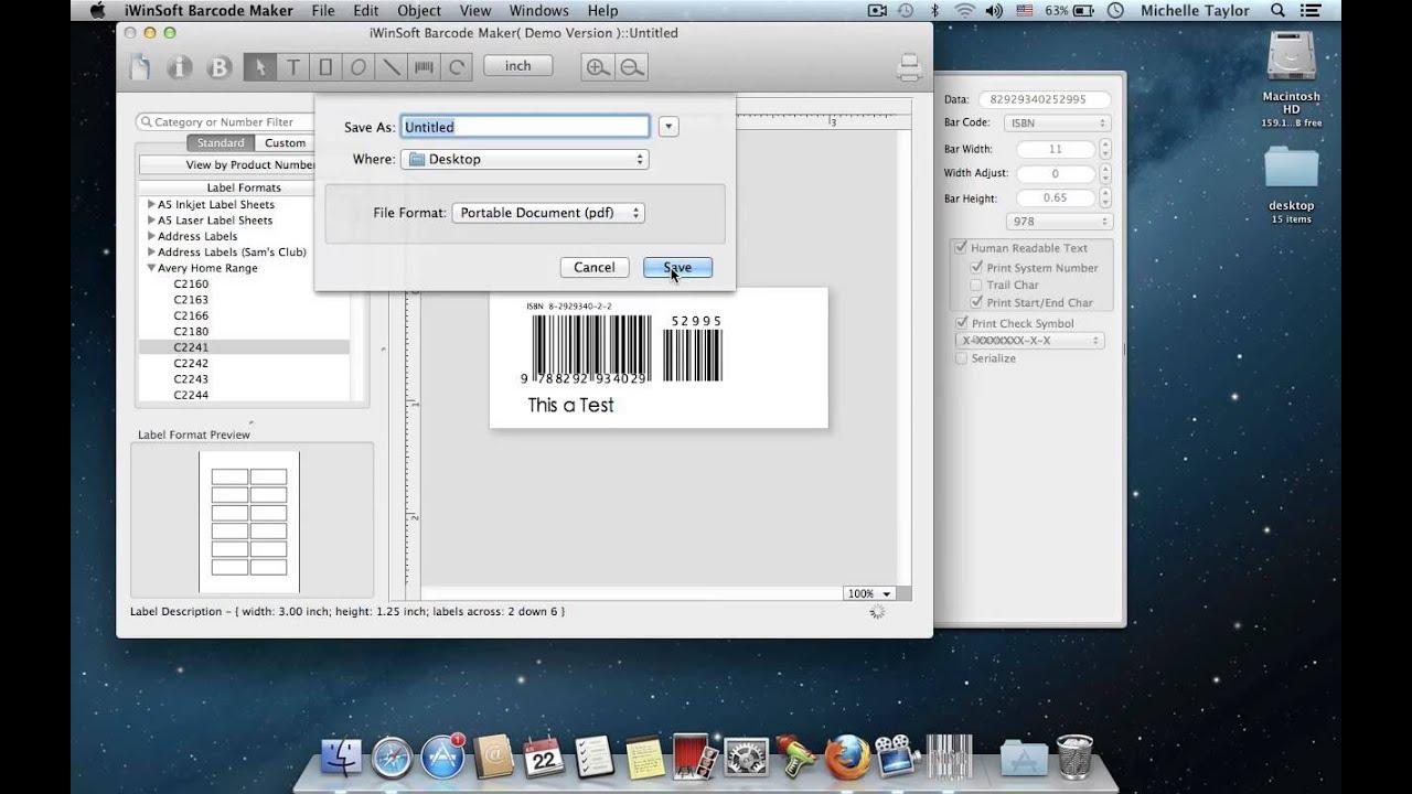 Mac Barcode Generator - generates Mac barcodes easily