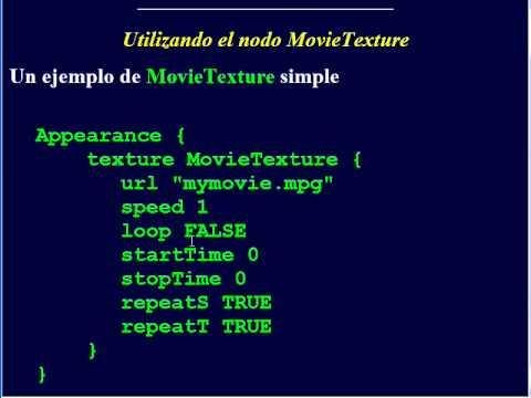Introducción al uso de textura en VRML.© UPV
