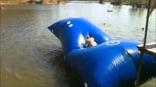 полёты с батута в воду