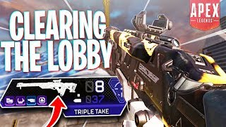 Clearing the Lobby as Triple Take Man! - PS4 Apex Legends