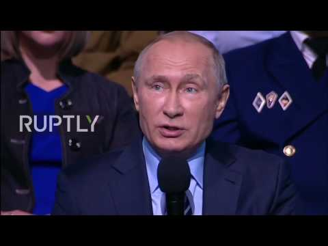 Putin takes part in All  Russian Popular Front meeting in Moscow