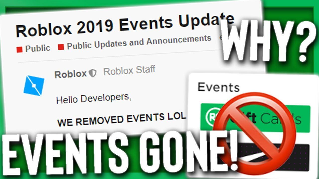 Roblox Removed All Events