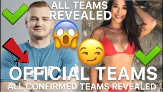 The challenge War of the worlds | ALL OFFICIAL TEAMS REVEALED