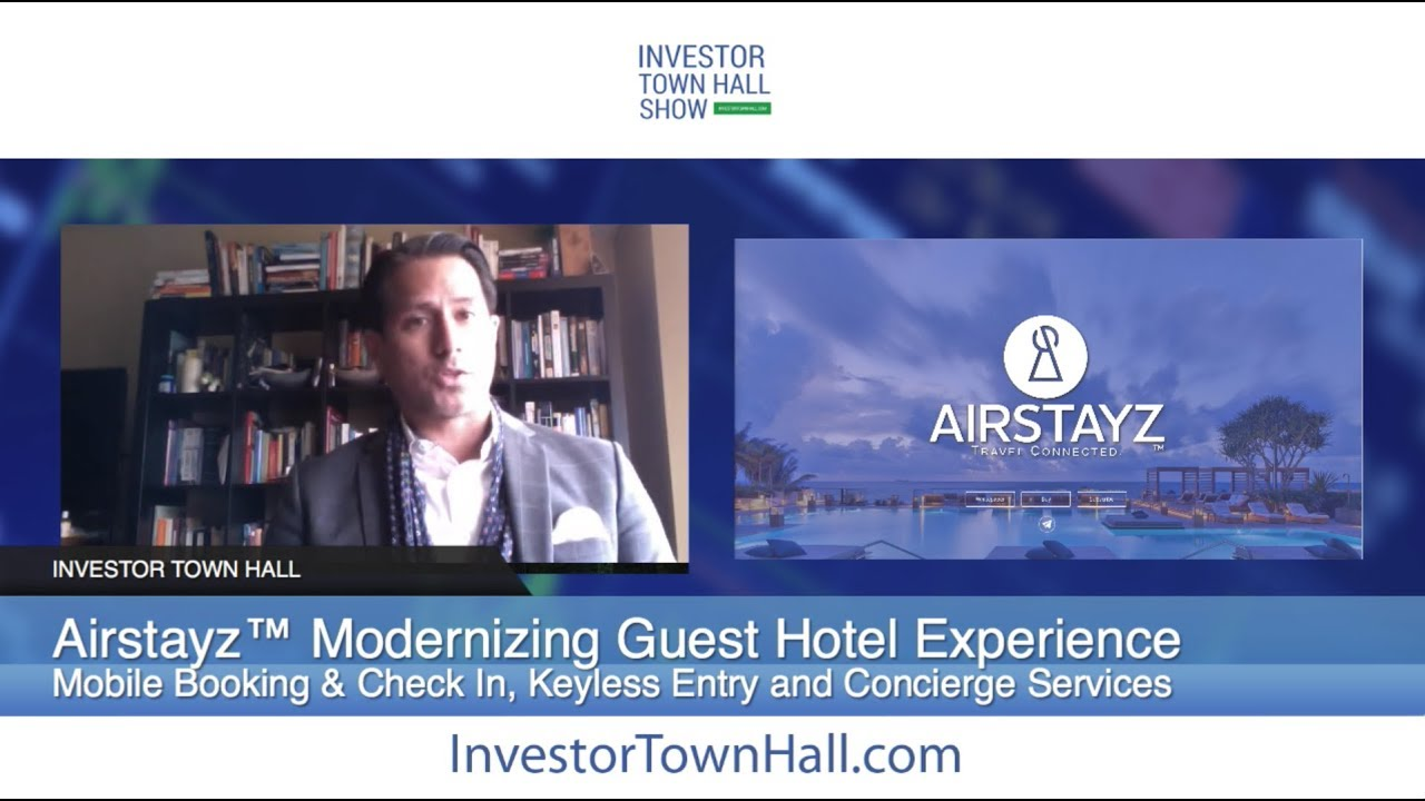AIRSTAYZ™ Co-Founder Marco Soriano , Blockchain Solution for Travelers and Hotels