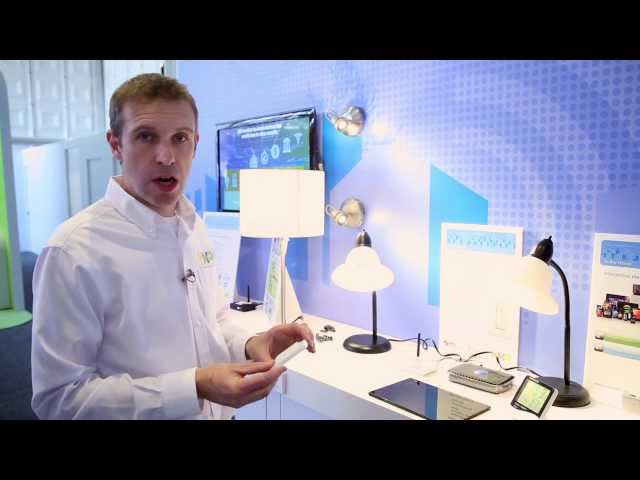 NXP & EnOcean: Energy Harvesting Wireless Switch at CES 2014 (ZigBee, NFC)