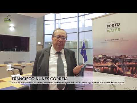 Francisco Nunes Correia invites all to come to Porto Water Innovation Week in September