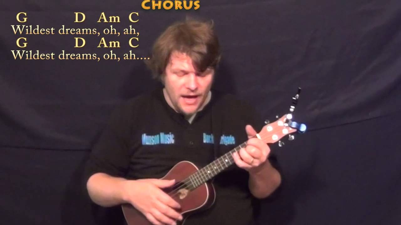 Wildest Dreams (Taylor Swift) Ukulele Lesson in G with Chords/Lyrics - YouTube