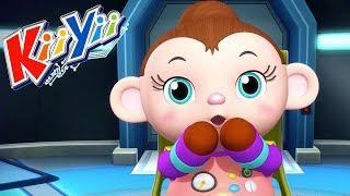 детские песни   5 маленьких обезьянок + Еще!   KiiYii   мультфильмы для детей