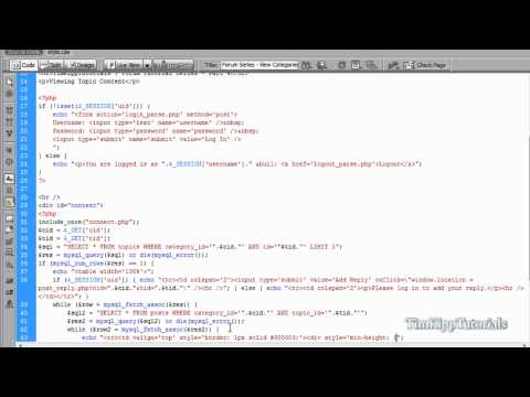 PHP Series - Building A PHP MySQL Forum Tutorial Series Part 4 - Viewing Topic Content
