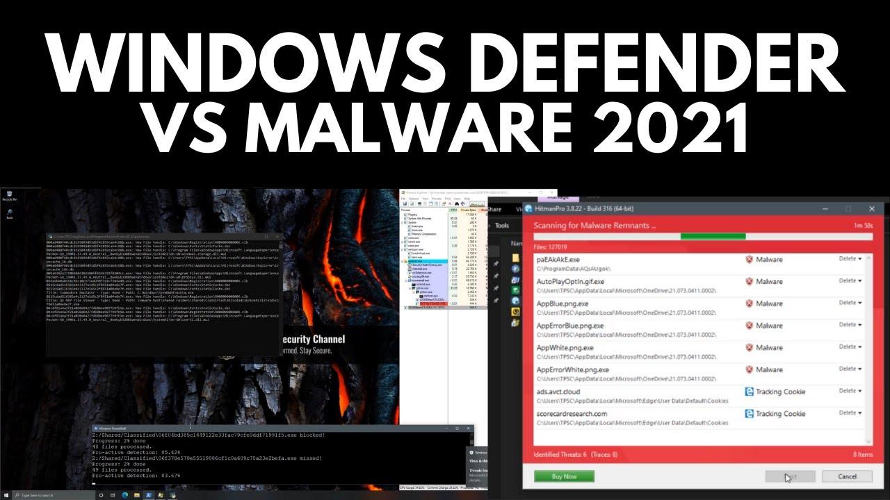 Windows Defender vs Malware in 2021