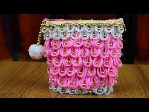 DIY Best out of waste - Waste material craft ideas | Empty Bottle Craft Idea - Woolen Craft ideas