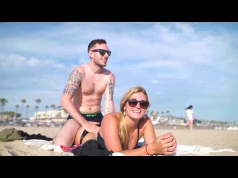 Kissing Girls on the Beach Prank feat Horney Cops Oil Boy