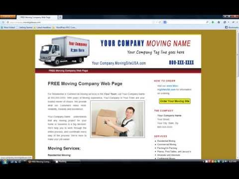 FREE Moving Company Website