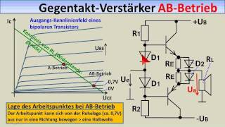 ELEKTRONIK-TUTORIAL 08 (4): Differenz-Verstärker, Gegentakt-Endstufen