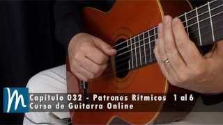 Ritmos de guitarra - patrones de acompañamiento 1 al 6