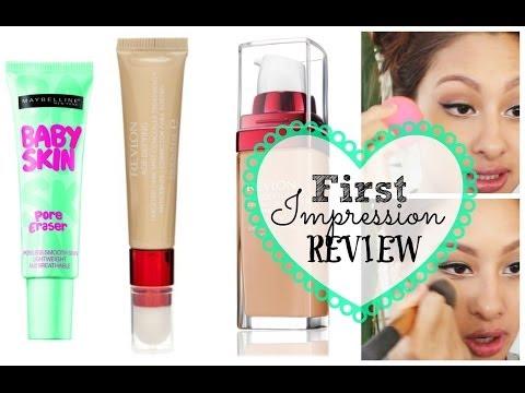 3 First Impressions: NEW Maybelline pore eraser & NEW Revlon Age Defying Foundation/Concealer
