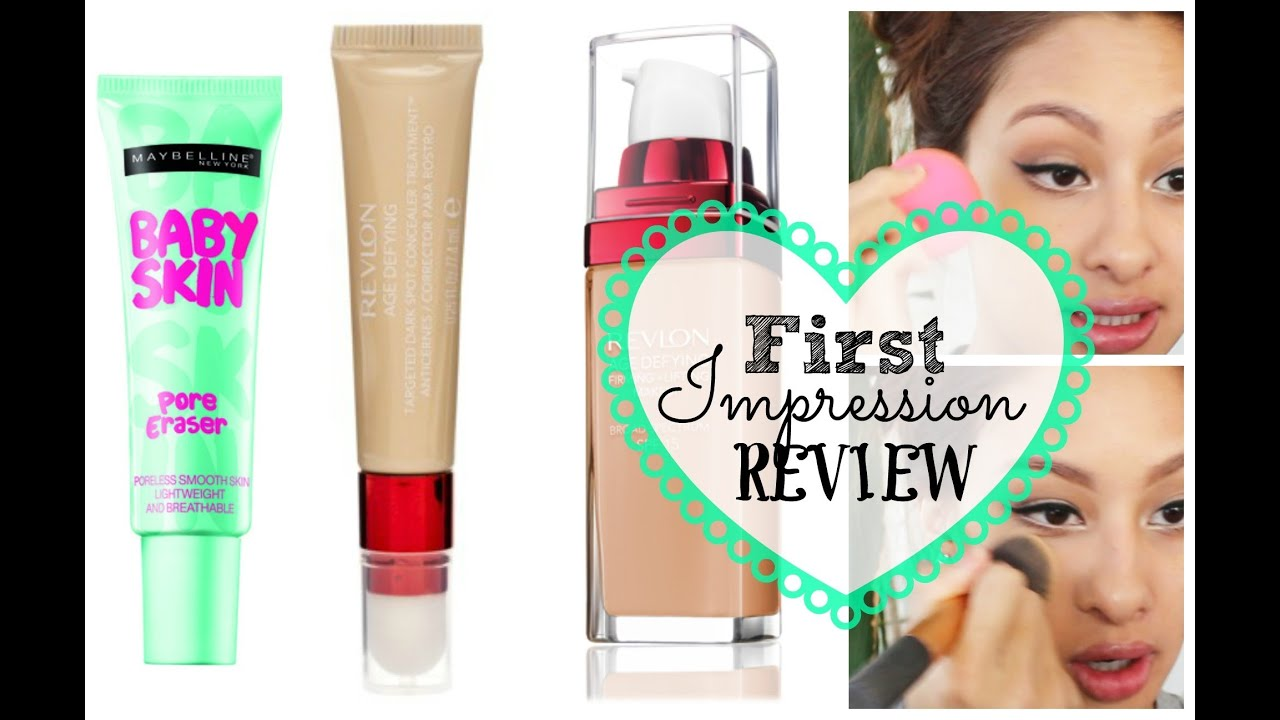 3 First Impressions: NEW Maybelline pore eraser & NEW Revlon Age ...