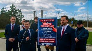 Politycy Konfederacji w Ostrołęce. Konferencja prasowa poświęcona budowie Ostrołęki C