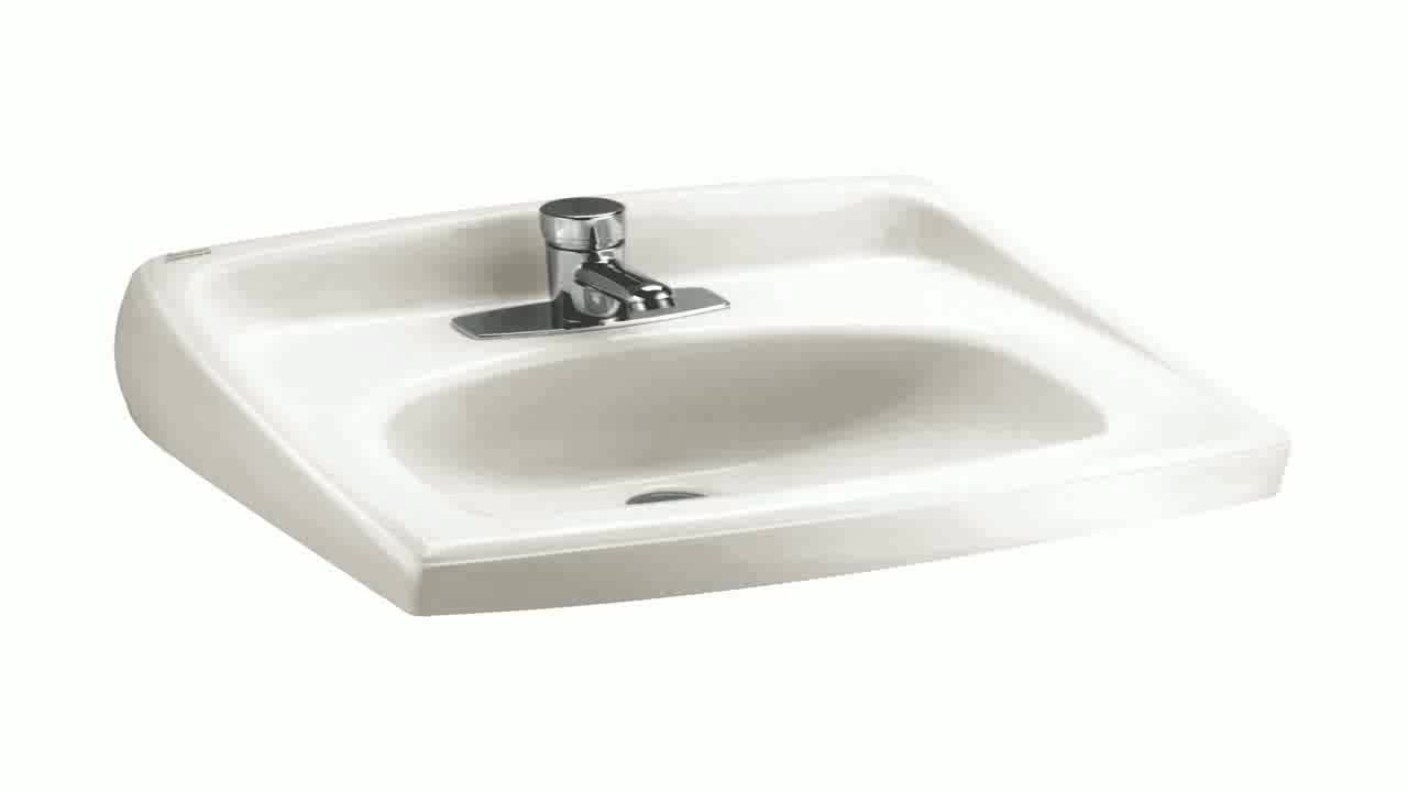 American Standard 0355.012.020 Lucerne Wall Mount Lavatory Sink with ...