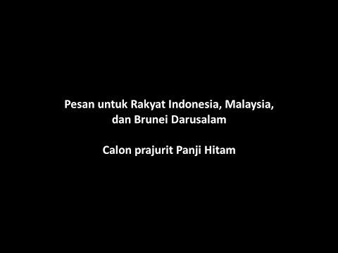 Pesan untuk Calon Panji Hitam Indonesia, Malaysia, dan Brunei | Mimpi Muhammad Qasim