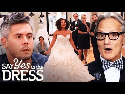 Entourage Critiques a Lazaro Dress in Front of the Designer! | Say Yes To The Dress Atlanta