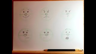 How to Draw Cartoon Faces Part 1: Expressions! | Beginner Level