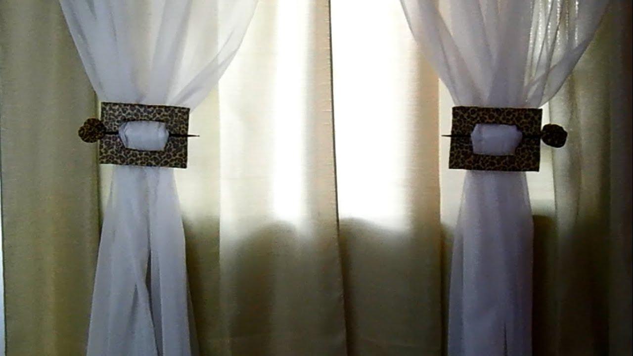 Como fazer um prendedor de cortina fcilPor Miscelneas