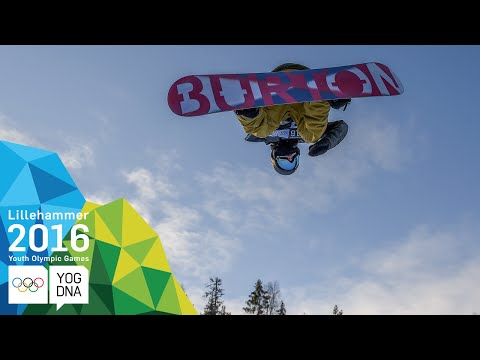 Snowboard Halfpipe - Jake Pates (USA) wins Men's gold   Lillehammer 2016 Youth Olympic Games