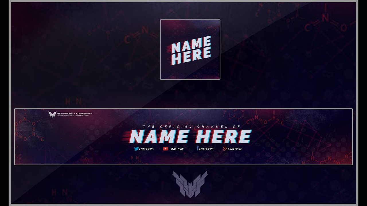 Template Youtube. youtube banner and logo template psd youtube ...