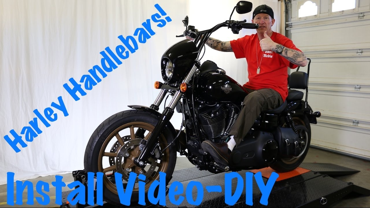 install handlebars on harley dyna softail or sportster t bars extend wires cables [ 1280 x 720 Pixel ]