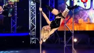Anastasia Sokolova - Pole Dancing - Ukraine's Got Talent