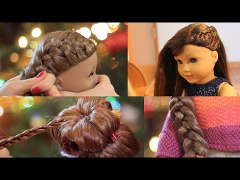 American Girl Doll Holiday Hairstyles! ❄ 2016