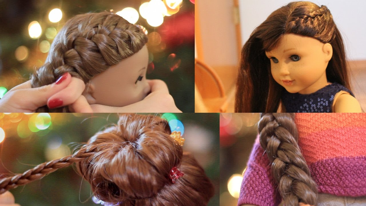 american girl doll holiday hairstyles! ❄ 2016 - youtube