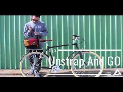 Green Guru Rear Rack Kickstand Cooler Bike Bag