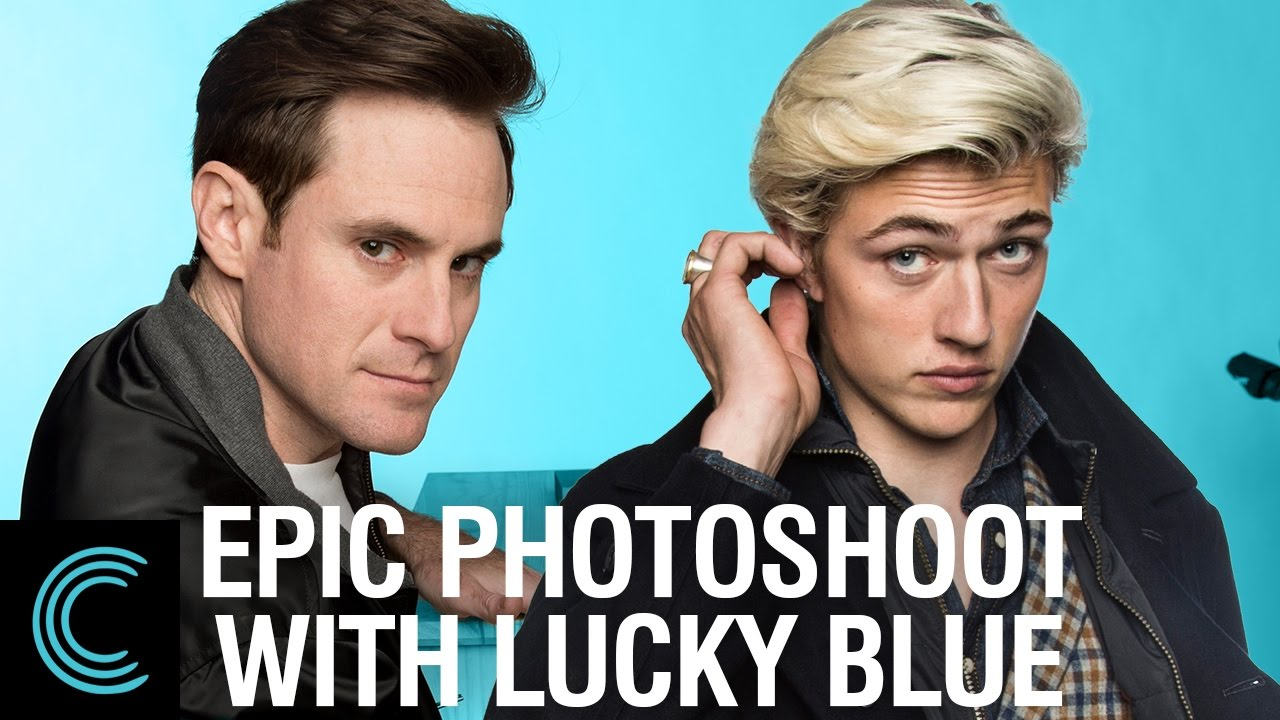 Blue Model Epic Photoshoot With Top Model Lucky Blue