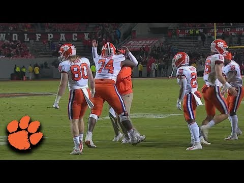 Clemson Offensive Tackle John Simpson Scores A Rushing Touchdown
