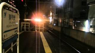 名鉄東岡崎駅にて撮影。普通伊奈行きが到着します。