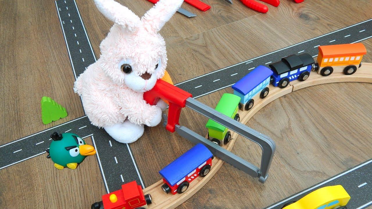 Сеня и ремонт поезда. Машинки игрушки - Город Машинок 330 серия. Мультик про машинки