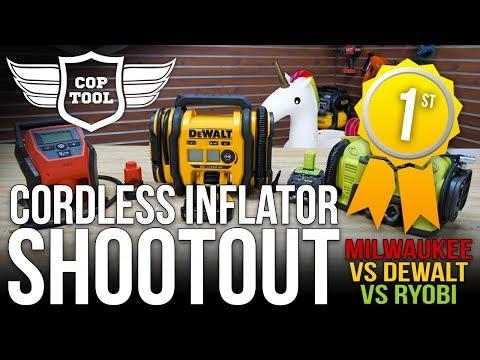 Who Has The Best Inflator? DeWALT, Milwaukee or Ryobi | Inflator