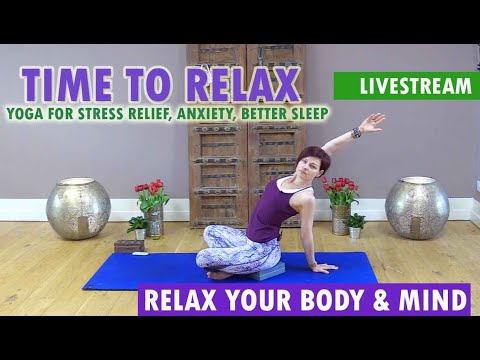 how to relax  yoga for beginners stretching for stress