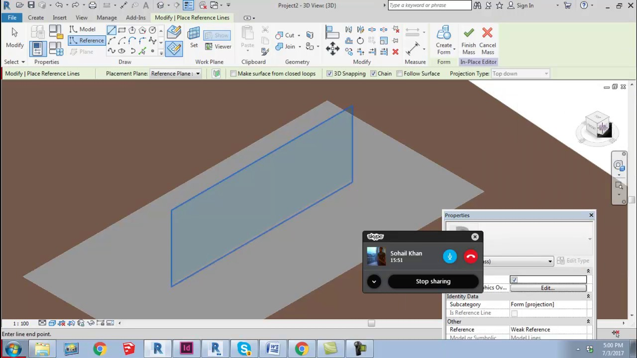 Massing in Revit 2018